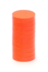 "1"" Magnetic Status Markers - INTENSE ORANGE 10-Pack"