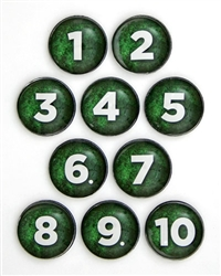 Green Number Tokens
