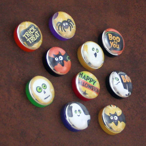 One-Inch Halloween Magnets