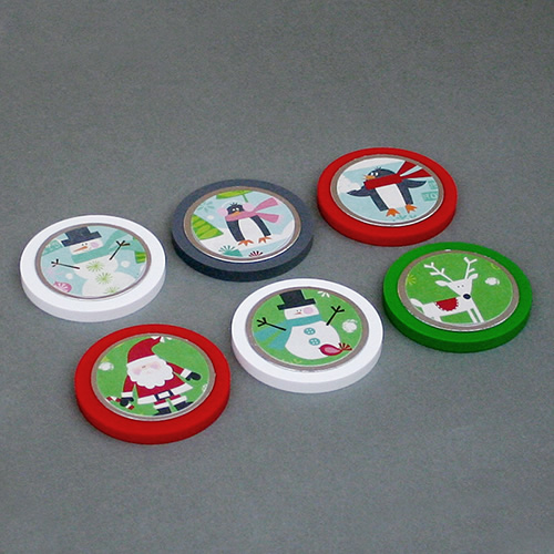 Two-Inch Holiday Magnets